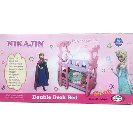 تخت خواب عروسک دو طبقه