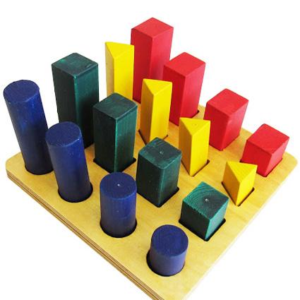 بازی چوبی شکل رنگ