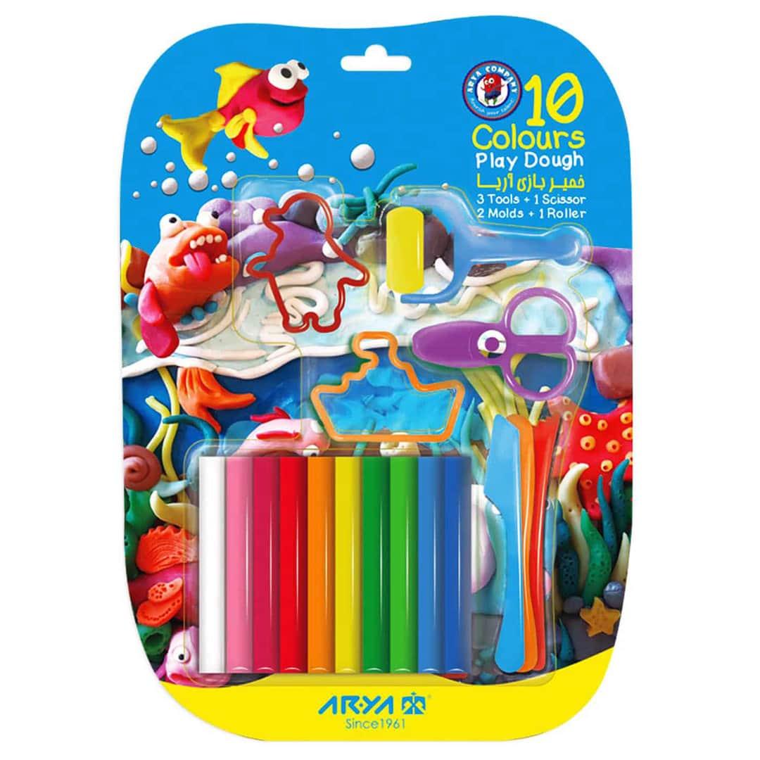 خمیربازی ۱۰ رنگ وکیومی با ابزار آریا ARYA