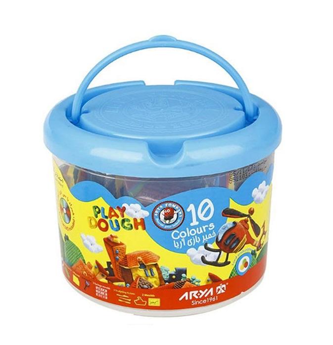 خمیربازی سطلی 10 رنگ آریا ARYA