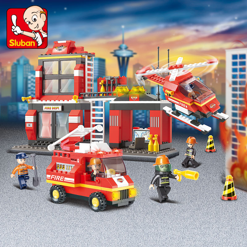 ایستگاه آتش نشانی-لگو