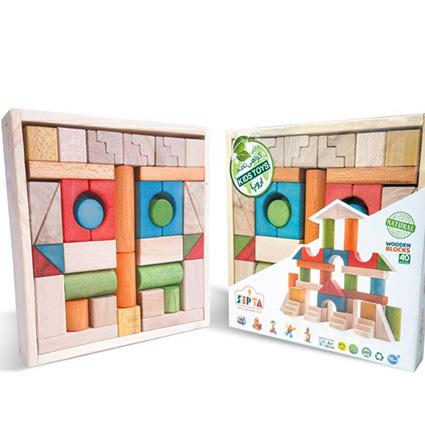 بازی فکری بریکس چوبی 40 قطعه