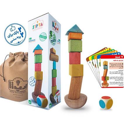 بازی فکری برج تعادل چوبی Septa