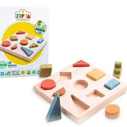 بازی فکری صفحه اشکال چوبی Septa
