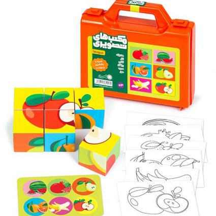 پازل مکعبهای تصویری مدل میوه ها