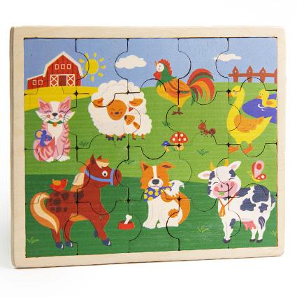 پازل چوبی جورچین مزرعه حیوانات