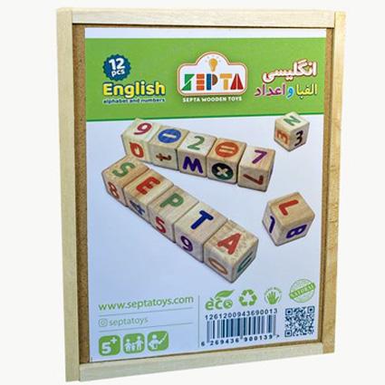 حروف الفبا و اعداد چوبی انگلیسی Septa