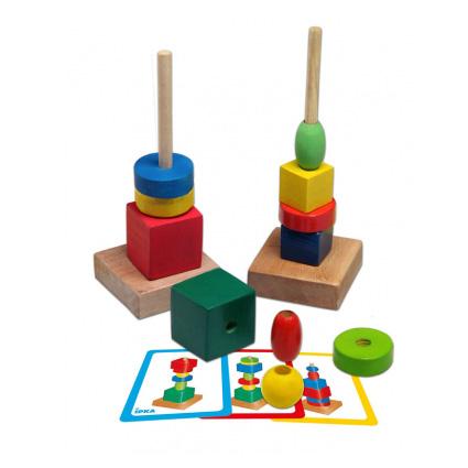 اسباب بازی چوبی میله و مهره