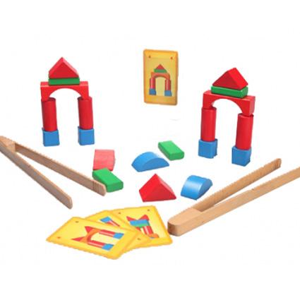 اسباب بازی چوبی انبر و بلوک