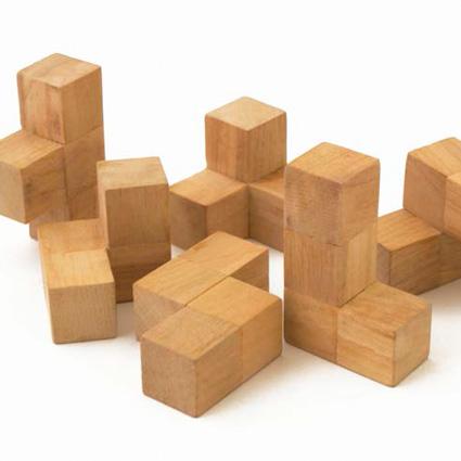بازی فکری چوبی مکعب سوما
